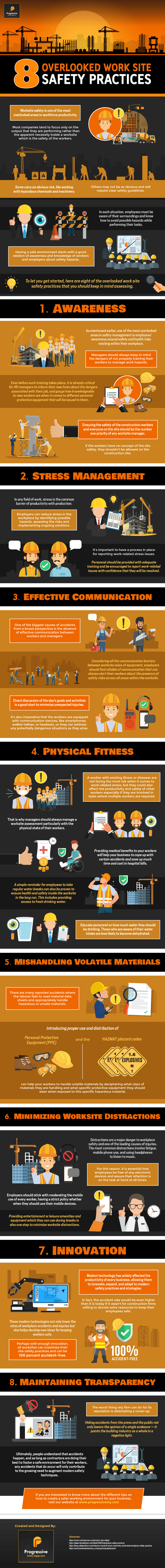 8 Overlooked Work Site Safety Practices (Infographic)