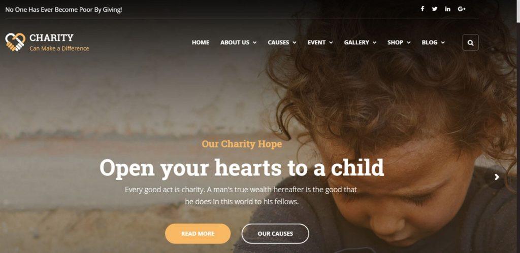 Charity Premium WordPress Theme