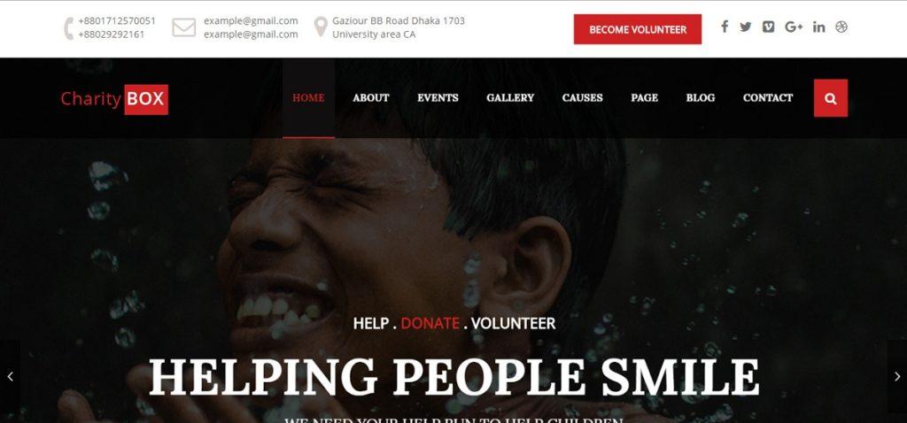 CharityBOX Premium WordPress Theme