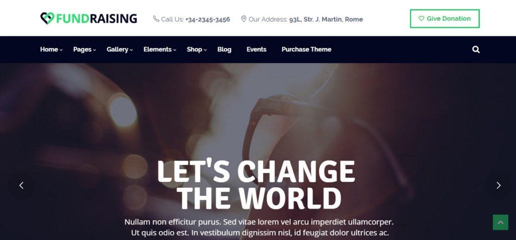 Fundraising Premium WordPress Theme