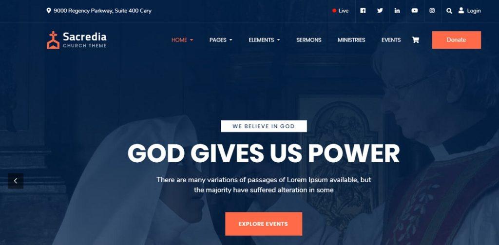 Sacredia Premium WordPress Theme