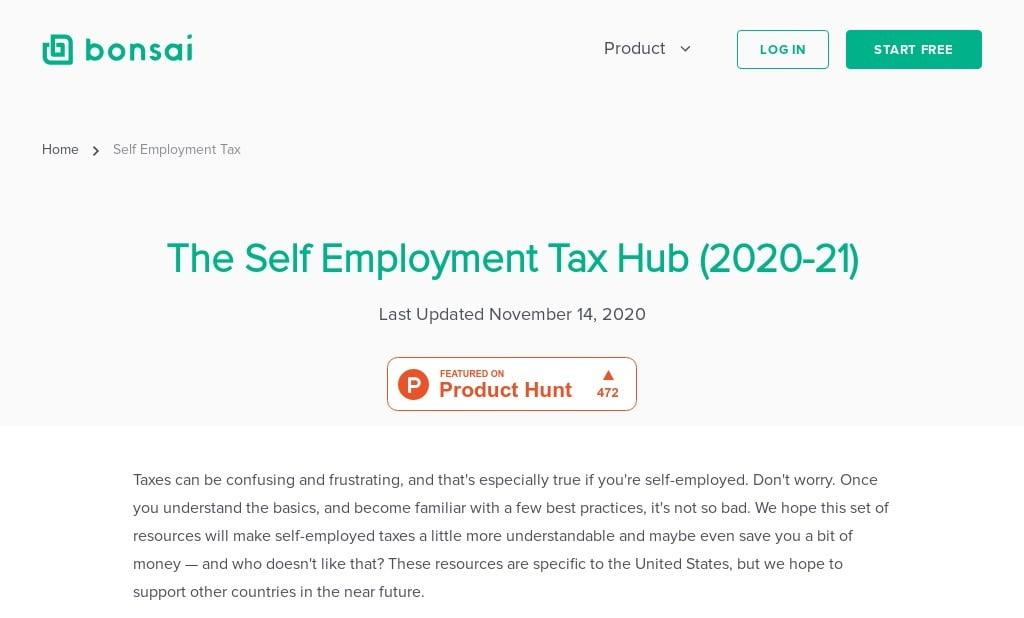 The Self-Employment Tax Hub